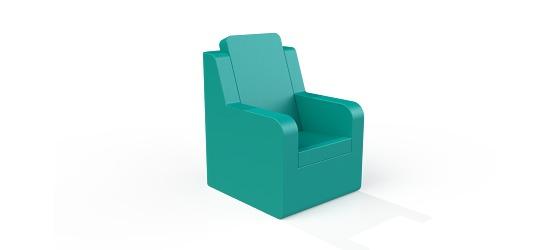 Chatsworth møbler med vinyl betræk Høj ryg, Stol