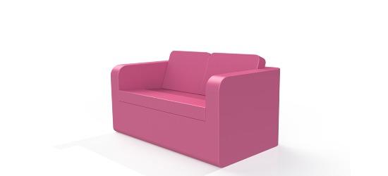 Chatsworth møbler med vinyl betræk Lav ryg, 2er med armlæn