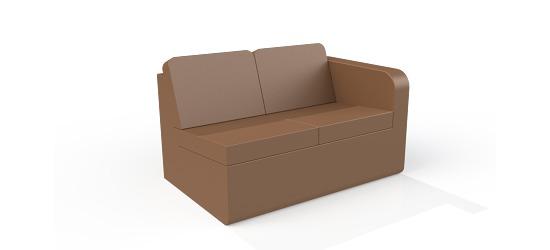 Chatsworth møbler med vinyl betræk Lav ryg, 2er sofa V armlæn
