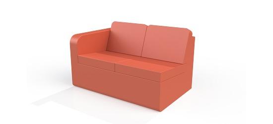 Chatsworth møbler med vinyl betræk Lav ryg, 2er sofa H armlæn
