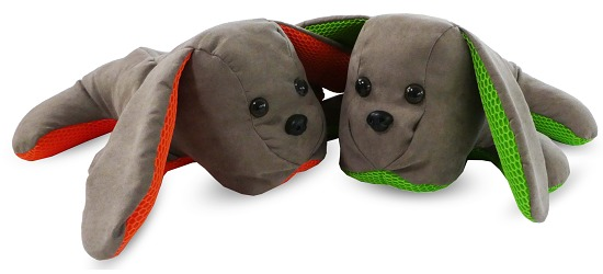 "Den Vibrerende Hund ""Lenny"" Orange"