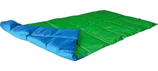 Enste® Schwere Decke/Gewichtsdecke 180x90 cm / Grün-Blau, Außenhülle Suratec