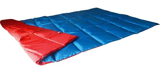 Enste® Schwere Decke/Gewichtsdecke 198x126 cm / Blau-Rot, Außenhülle Suratec