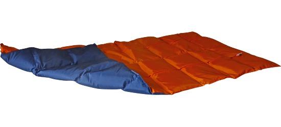 Enste® Schwere Decke/Gewichtsdecke 144x72 cm / Orange-Dunkelblau, Außenhülle Suratec