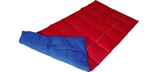 Enste® Schwere Decke/Gewichtsdecke 144x72 cm / Rot-Blau, Außenhülle Baumwolle