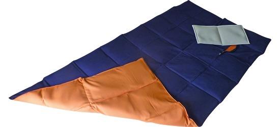 Enste® Schwere Decke/Gewichtsdecke 180x90 cm / Dunkelblau-Terracotta, Außenhülle Baumwolle