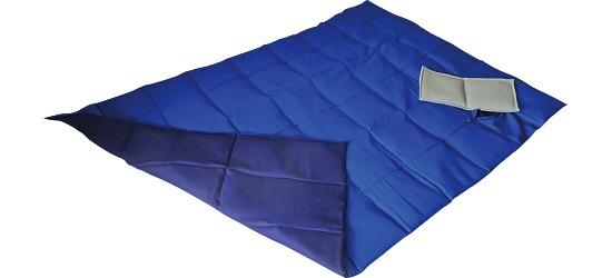 Enste® Schwere Decke/Gewichtsdecke 198x126 cm / Blau-Dunkelblau, Außenhülle Baumwolle