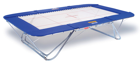 Eurotramp Trampoline Spotting Mat With rolling stand