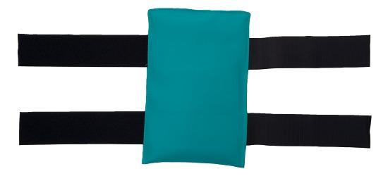 Gymnastik-Sandsæk Med klæbebånd, 1 kg, 25x15 cm