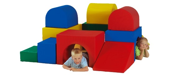 Kæmpe-byggeklods labyrint