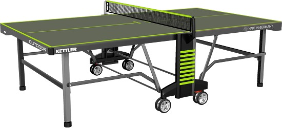 "Kettler® ""Outdoor 10"" Table Tennis Table Umber/green"