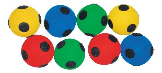 Klett-Softbälle für Klett-Zielscheiben