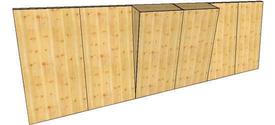 "OnTop® Boulderwand-Bausatz ""Indoor Natur Pur"", Höhe 2,48 m 744 cm, Mit Überhang"