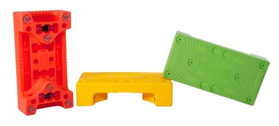 """""""Puzzle Step"""" Aqua Step Orange"""