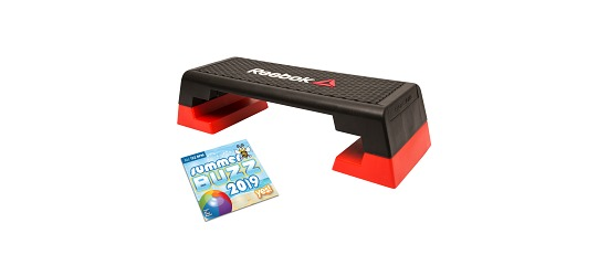 Reebok® Step Aerobic stepper with CD Professional