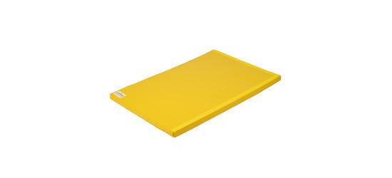 """Reivo® """"Safe"""" Combi Gymnastics Mat Yellow Polygrip, 200x100x8 cm"""