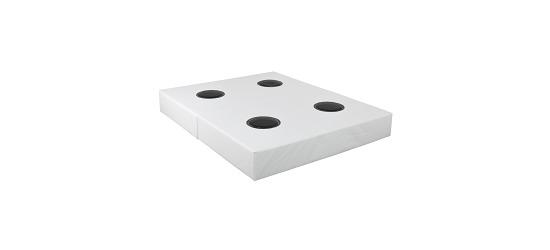 Rompa®-Musikwasserbett 100x200x50 cm hoch, Mit 2 Pulsgebern