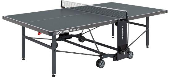 Sport thieme all terrain table tennis table from 2 for Terrain de tennis taille