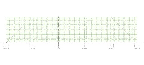 Sport-Thieme® Ball Safety Net Unit 25x5 m Without ground sockets