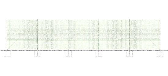 """Sport-Thieme® Ballfangnetz-Anlage """"Standard"""", 25x5 m Ohne Bodenhülsen"""