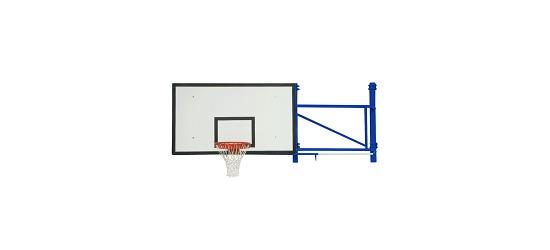 Sport-Thieme® Basketball-Wandgerüst schwenk-und höhenverstellbar Ausladung 225 cm, Betonwand