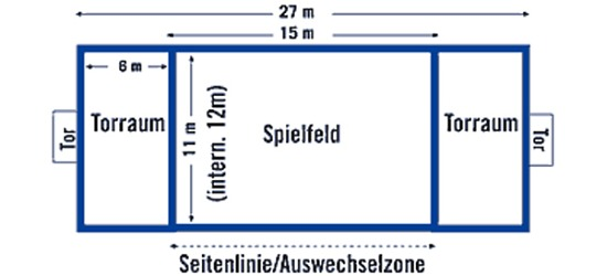 Sport-Thieme® Beach Håndbold Banemarkering FUN, 27x12 m/25 mm