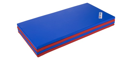 Sport-Thieme Foldemåtte 240x120x3 cm, Blå-rød