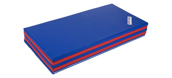 Sport-Thieme Foldemåtte 300x120x3 cm, Blå-rød