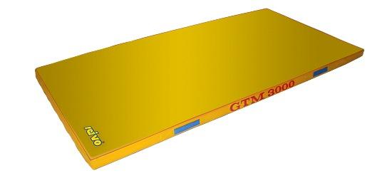 "Sport-Thieme® ""GTM 3000"" Apparatus Gymnastics Mat 200x100x6 cm, 17 kg, Yellow"
