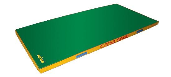 "Sport-Thieme® ""GTM 3000"" Apparatus Gymnastics Mat 200x100x6 cm, 17 kg, Green"