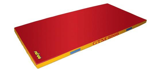 "Sport-Thieme® ""GTM 3000"" Apparatus Gymnastics Mat 200x100x6 cm, 17 kg, Red"