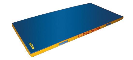 "Sport-Thieme® ""GTM 3000"" Apparatus Gymnastics Mat 200x100x8 cm, 22 kg, Blue"