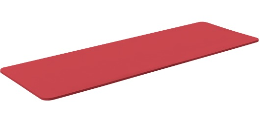 "Sport-Thieme Gymnastikmatte  ""Basic 10"" Rot"