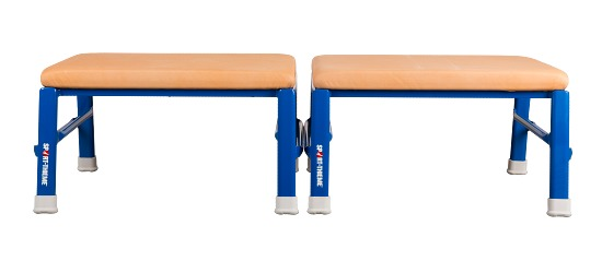 Sport-Thieme® Jumping and Gymnastics Stool Leather cover, natural