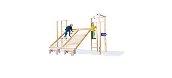 Sport-Thieme® Kombi Tilting Gymnastics Wall Fall protection mats not included