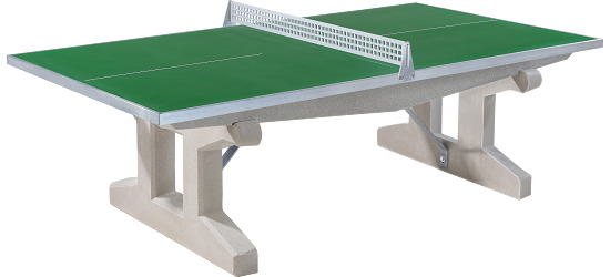 "Sport-Thieme® ""Premium"" Polymer Concrete Table Tennis Table Green, Short legs, free-standing"
