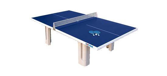 "Sport-Thieme® ""Pro"" Polymer Concrete Table Tennis Table Blue"