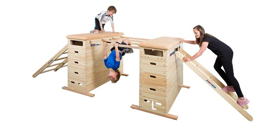 "Sport-Thieme Vaulting Box Set ""Vario"" Without swivel castor kit"