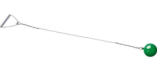 Sport-Thieme® Wettkampf-Wurfhammer 3 kg, Grün, ø 108 mm