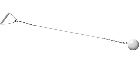 Sport-Thieme® Wettkampf-Wurfhammer 4 kg, Weiß, ø 102 mm