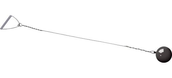 Sport-Thieme® Wettkampf-Wurfhammer 7,26 kg, Schwarz, ø 120 mm
