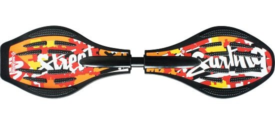 "Streetsurfing® Waveboard  ""Wave Splash Red/Orange"""