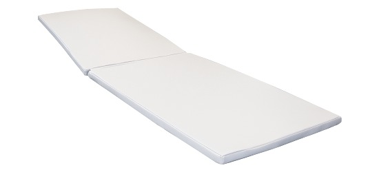 Sun lounger cushion White