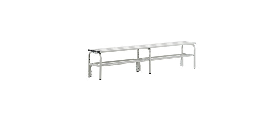 Sypro Wolf® Changing Bench for Damp Areas without Backrest 2.00 m, With shoe shelf