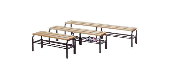Sypro Wolf® Umkleidebank für Trockenräume ohne Lehnen 1,01 m , Ohne Schuhrost