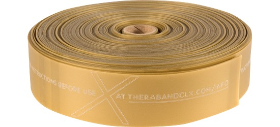 TheraBand®CLX™ Band, 22 m Rolle Gold, maximal stark