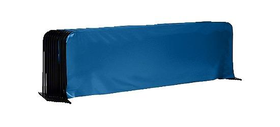 Tischtennis-Spielfeldumrandung 10er Set Ohne Sport-Thieme Aufdruck, Blau