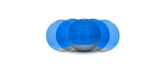 Trial® Boa-Ball Kinder, ø 40-50 cm, Blau-Grau