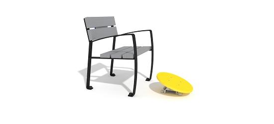 Vitalis-Park Einzelsitz mit Fuß-Kreisel