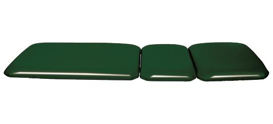 Wandklappliege, 3-teilig Tannengrün